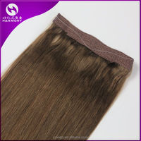 Harmony 100% Brazilian remy human hair fish wire hair extensions