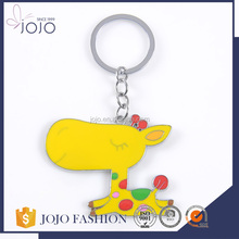 Factory Price Giraffe Enamel Cheap Custom Fashion Keychain