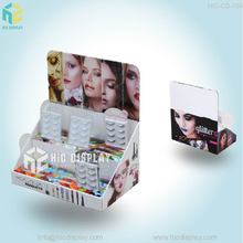 Custom makeup mac cosmetic product cardboard counter display stand for false eyelash/store retail pdq display case box