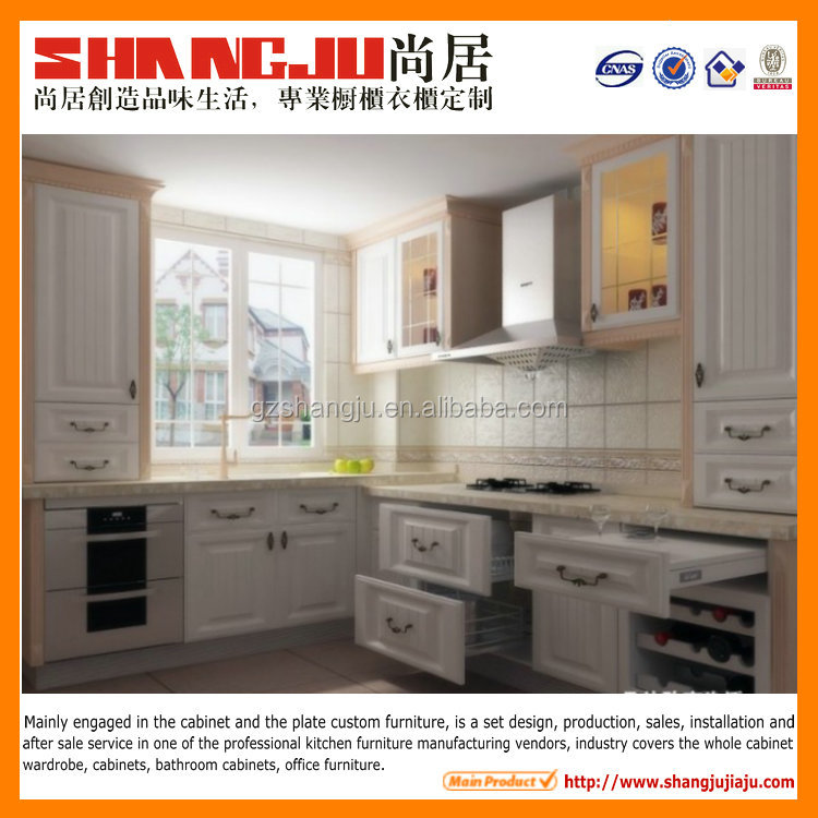 Contemporary pvc tandom box design kitchen cabinet