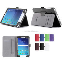 Handhold strip Classic stand PU leather flip cover case for Samsung Tab E 8.0
