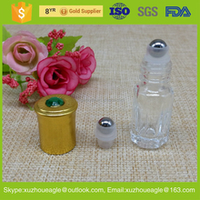 3ml 6ml 8ml 10ml 12ml essential oil , perfume glass roll on deodorant bottles with stainless steel roller ball