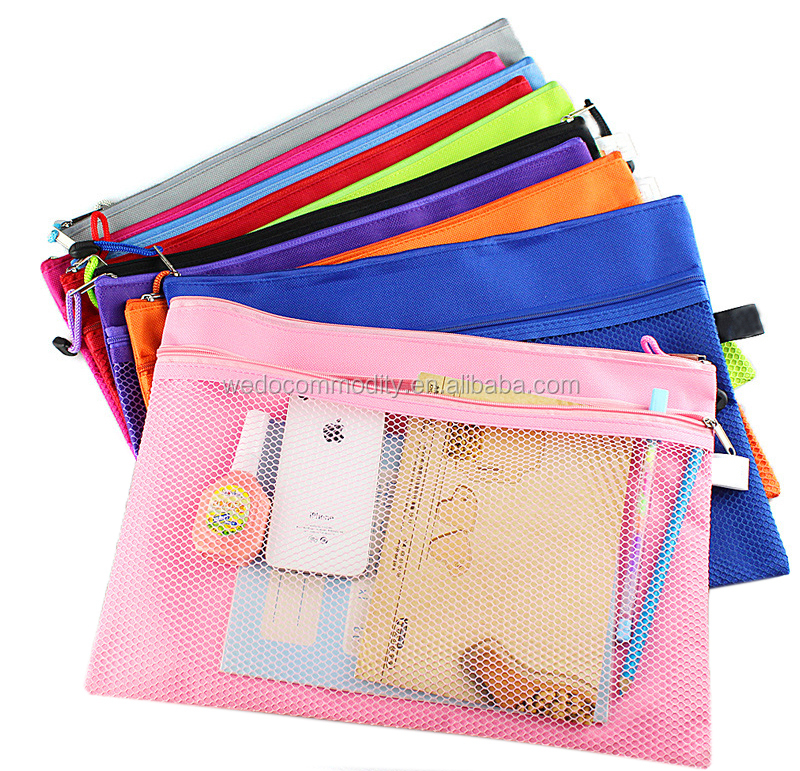 A4 meshs document bag zipper bag for documents