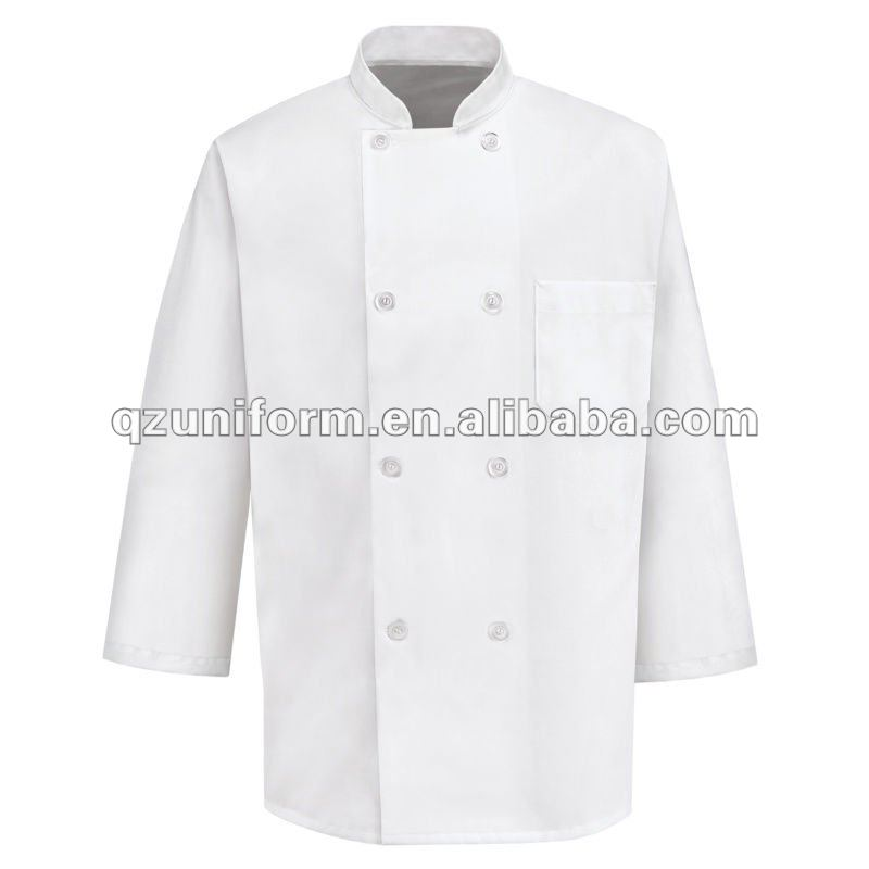 8 Button 3/4 Length Sleeve 100% Cotton Chef Uniform Coat KR004
