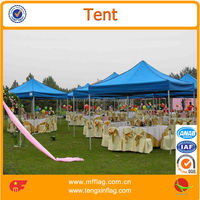 3x3m aluminum hex frame automatic pop up canopy tent in water proof top in wedding