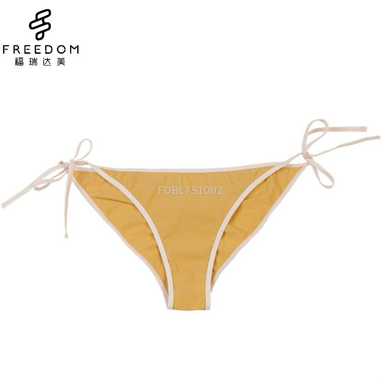 China wholesale and customized bow-knot cotton thongs bow-knot strap panty for girls