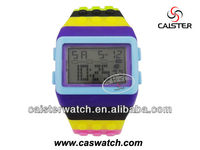 2013 Alibaba china Rainbow Abs plastic band LED digital watch shenzhen