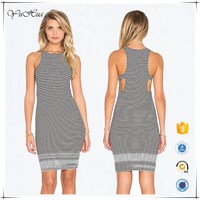 2016 Latest Read Between Lines Stripe Dress For Girls Women Sexy Casual Dress