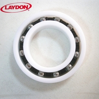 40x68x15 anti-rust thin section thin wall hybrid ceramic si3n4 ball bearing plastic race 6008