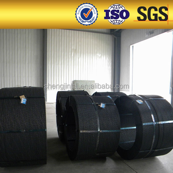 PC strand Unbonded. prestressed concrete steel wire