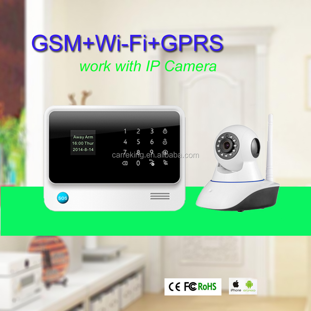 GSM+WIFI alarm system with biometric fingerprint car security