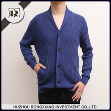 Custom men's cashmere thick silk sweater