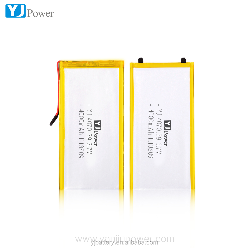 Lipo rechargeable battery 3.7V 4000 mAh Polymer Li ion battery For GPS DVD iPod PSP Tablet PC
