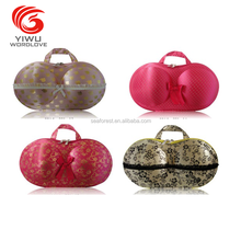 waterproof bra shaped underwear bag / folding bra organizer / travel bra case
