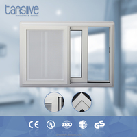 2016 top supplier Tansive construction aluminium interior sliding window with mosquito net