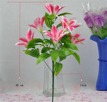 unique easter decorations lily bouquet for wedding stage flower decoration