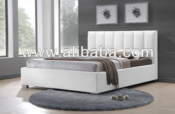Furniture Bedroom Vika Faux Leather PU Bed / Bedroom beds ( Vika Bed)
