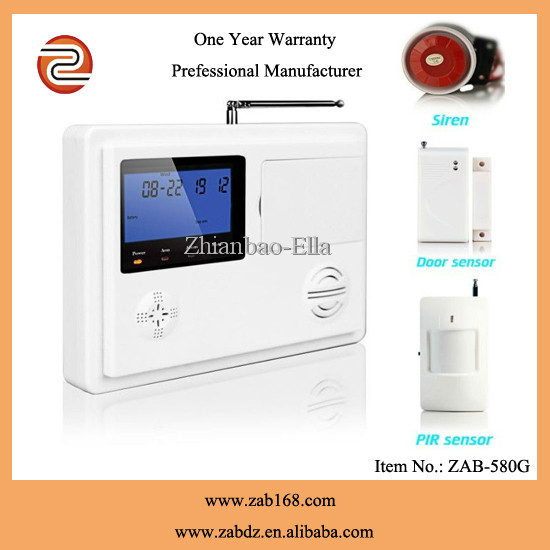 ZAB-580G,Latest 99 wireless Defence Zones,High quality <strong>GSM</strong>&PSTN dual network alarm system,intelligent smart home alarm systems