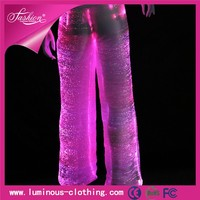 Alibaba hot sale special material fabric optic fiber harem pants men