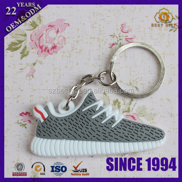 Wholesale Newest Sneaker PVC Shoe Key Chain Novelty Keyring