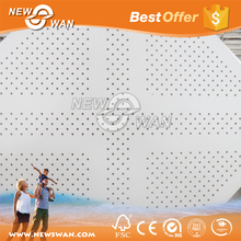 Acoustic gypsum board ceiling / 60x60 gypsum suspended ceiling tiles