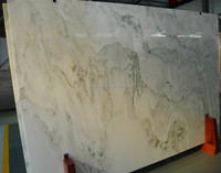 Professional Factory Supply Chinese Natural Green Grain White Marble Sheets Tiles