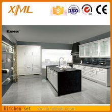 Fashion /Modren design High glossy white lacquer kitchen with island