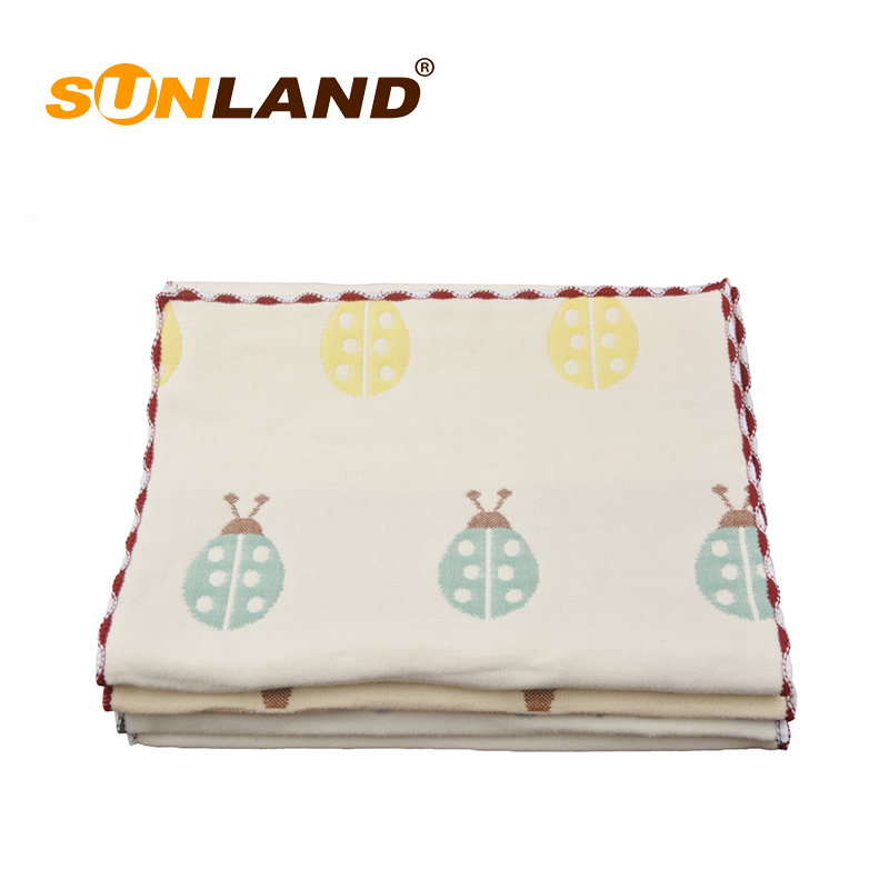 Sunland 100% <strong>cotton</strong> children's pure natural gauze baby body towel