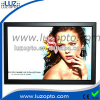 18mm thick super slim led snap frame light box, the light in the box dresses
