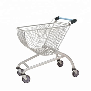 supermarket metal caddy shopping cart trolley (American style)