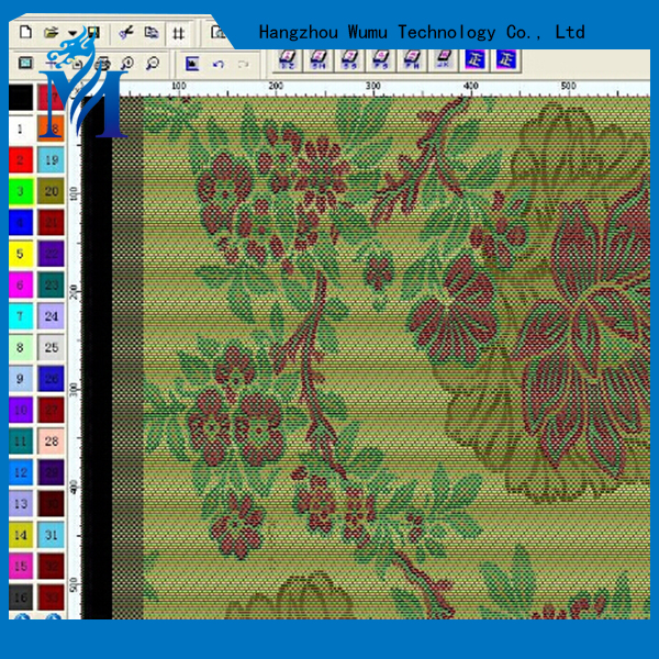Electronic jacquard fabric textile graphic design CAD software