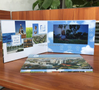 factory supply 7inch LCD video book video brochure, with 256mb memory, A5 card size