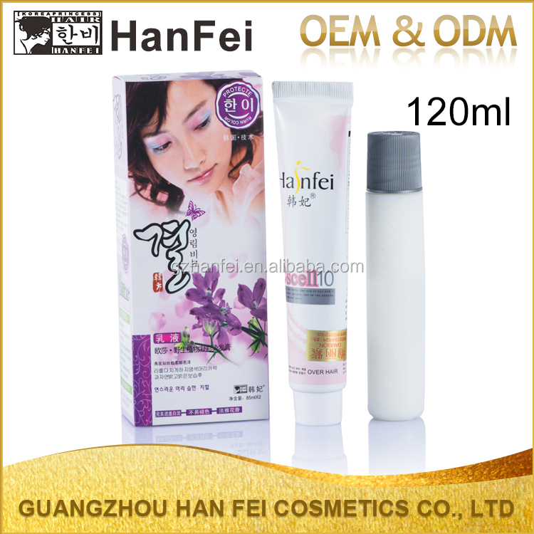 High quality permanent color cream hair dye professional hair color cream