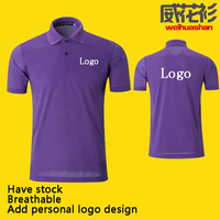 Have stock Black color Polo shirt Wholesale Free sample 65%polyester/35%cotton cheap add customized logo polo shirt