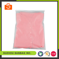wholesale high quality transparent ziplock t-shirt plastic packaging bag