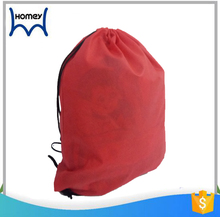 Gym sports hot shot recyclable backpack non woven drawstring bag