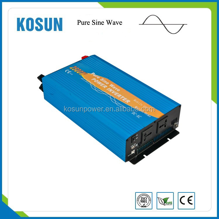 2500W Solar Power Pure Sine Wave Inverter DC 12/24/48V to AC 110/120/220/230/240V