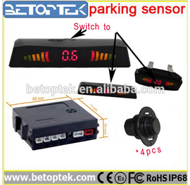 Universal Parking Assist Backup Sensor System with , LED Display and Warning Buzzer
