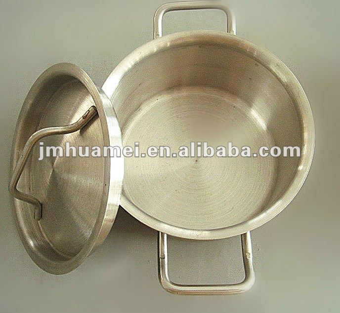 Double handles stainless steel sauce pan