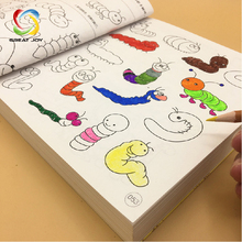 colorful cover recyclable paper hand painting drawing coloring book printing