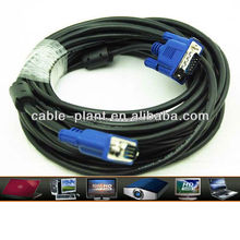 Manufacturers selling men 15-pin VGA cable for laptop computer LCD HDTV video VGA cable