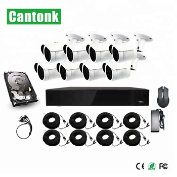 Cantonk Hot sale 5.0 Megapixel H.265 IR 20 Dome & Bullet 8CH Waterproof DIY XVR Kits HD Cameras