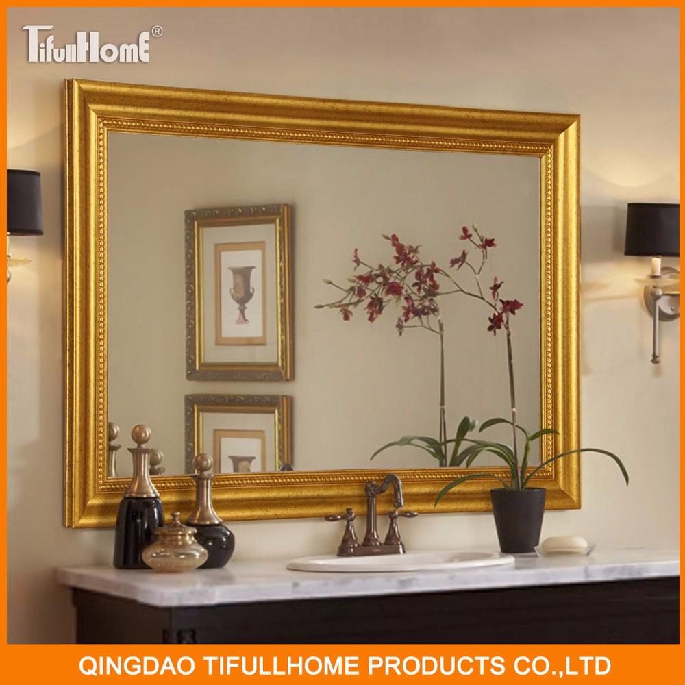 Wall fancy bathroom cosmetic mirror buy bathroom mirror for Fancy bathroom wall mirrors