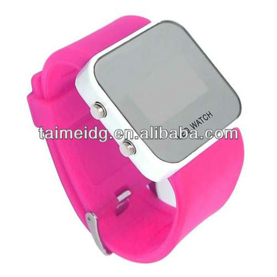 fashion custom logo colorful led light up watches
