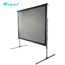 Fast folding quick fold easy move projector screen Portable adjustable outdoor/indoor projection screen with flight case