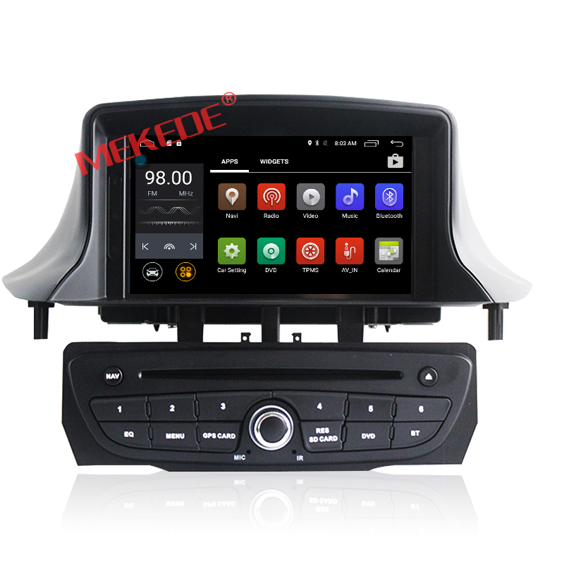 Factory price Android 7.1 Car Multimedia radio dvd player For Renault megane 3 2009-2011 with GPS navigator 4G wifi 2GRAM+16GROM