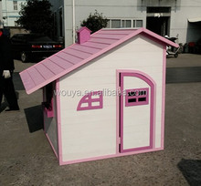 2017SPF easy assemble fun cheap co-friendly Kids Wooden Playhouse foldable
