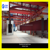 Hot Sale Steel Structure Shot Blasting Circular Painting and Drying Line