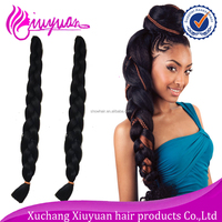 New arrival soft dread lock synthetic crochet braids wholesale 165g 82 inch super jumbo braiding hair