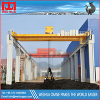 Electric Clamshell / Mechanical Overhead Grab Bucket Crane Price